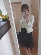 ジャケット インナー 白 入園式 ママ