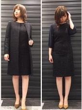黒 スーツ 入園式 ママ