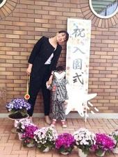 入園式 パンツスーツ 黒 ママ