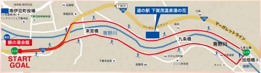 みなみの桜と菜の花まつり みちくさ夜桜マラソンin南伊豆 地図