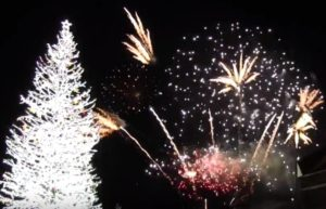 函館クリスマスファンタジー 花火