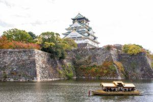 御座船 大阪城公園 紅葉