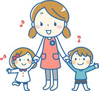 幼稚園 保母さん 子供 イラスト