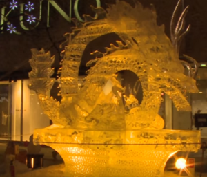 旭川冬まつり 氷彫刻 龍