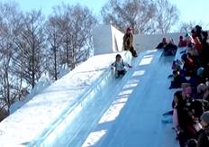 おびひろ氷まつり 雪の滑り台