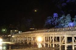 嵐山 渡月橋 ライトアップ