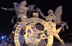 平和通買物公園会場 氷彫刻世界大会