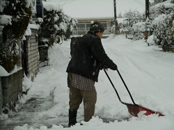 雪かき 注意点