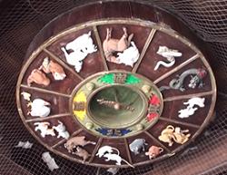 櫛田神社 干支恵方盤