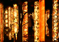 京都嵐山花灯路 和風オブジェ