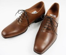 革靴 茶系