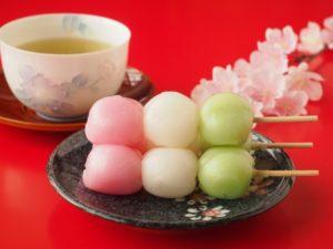三色団子 お茶 桜