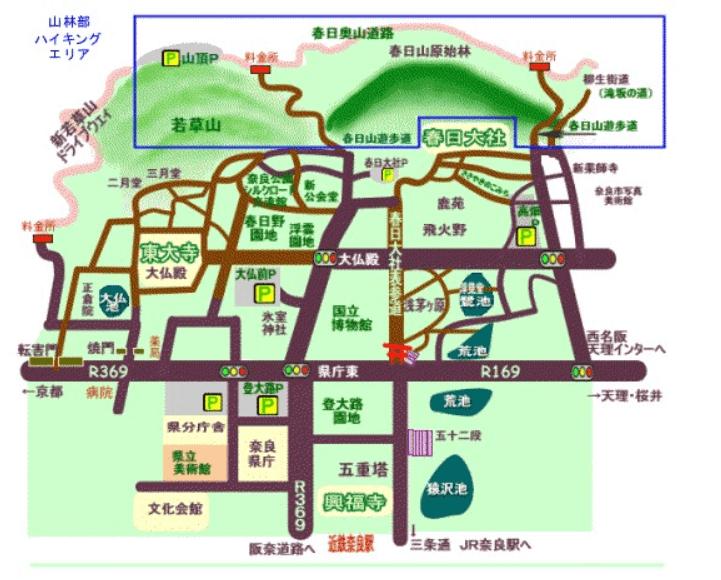 奈良公園 地図