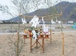 地鎮祭 準備 祭壇