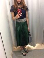 半袖 スカート スタイル