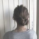 ミディアム まとめ髪