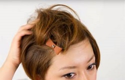 ポンパスタイル 前髪