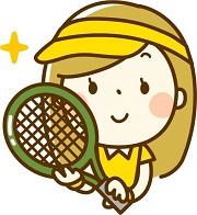 テニス サンバイザー 女性 イラスト
