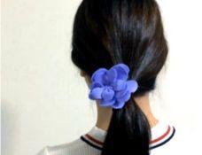 お花 ヘアゴム