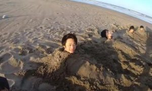 ビーチフラッグ 縦埋め