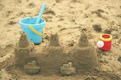 砂浜 砂のお城