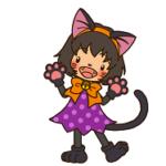 ハロウィン 猫 メイク