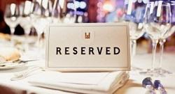 予約席 reserved