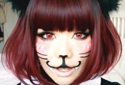 かわいい 猫メイク