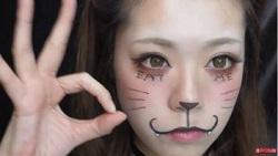 ハロウィン 猫メイク