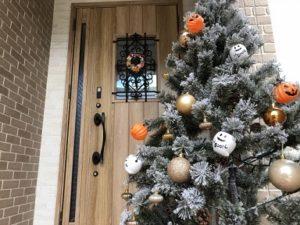 ハロウィンツリー 玄関