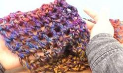 グラデーション マフラー 編み物