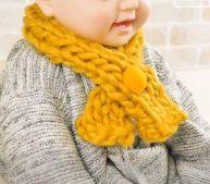 赤ちゃん 指編み マフラー 手作り