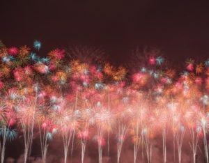 鮮やかで豪快な打ち上げ花火