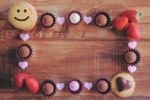 チョコ クッキー いちご ハート