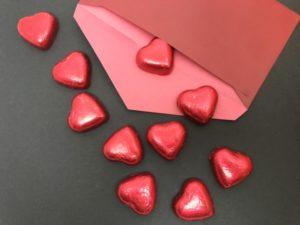 封筒 ハートチョコレート