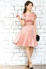 結婚式 服装 女性 ピンク