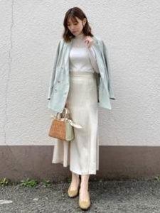 ロングスカート ジャケット 大人カジュアル 女性